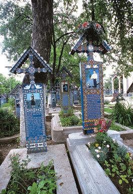 Cruci în Cimitirul vesel