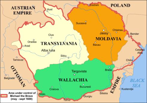Ţările aflate la 1600 sub domnia lui Mihai Viteazul